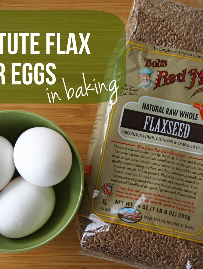 Substitute Flaxseed for Eggs in Baking