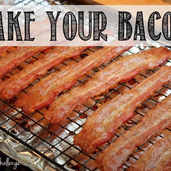Bake Your Bacon {cut calories & fat}
