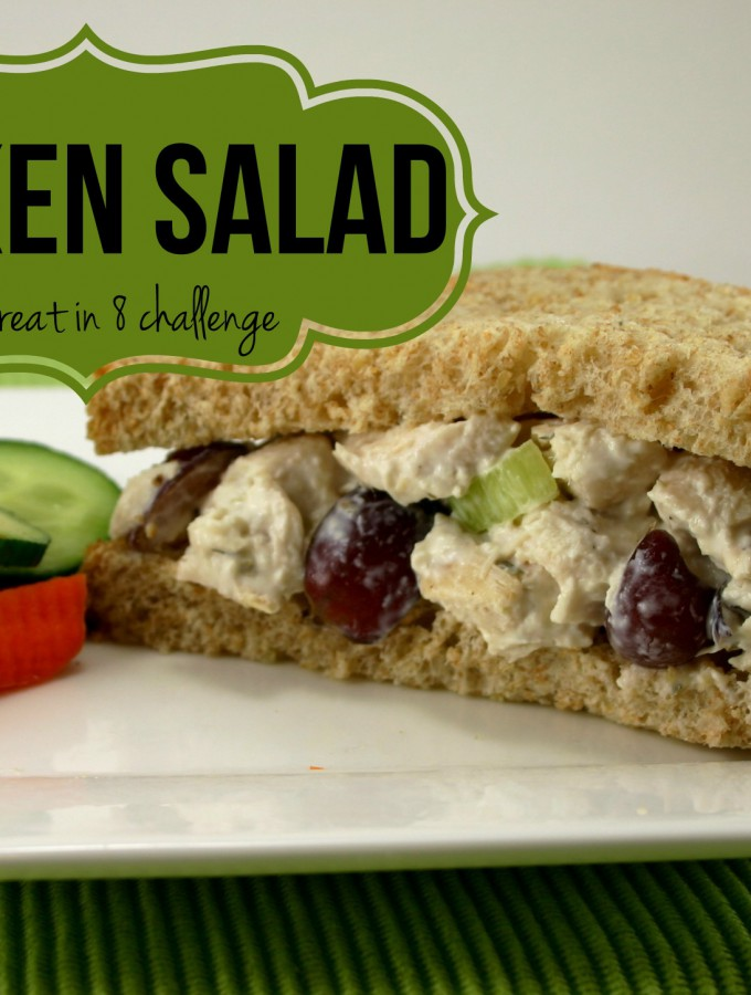 Healthy Chicken Salad - You'll love this lightened up chicken salad with celery, grapes, and almonds! | Feel Great in 8 #healthy #recipe #chicken