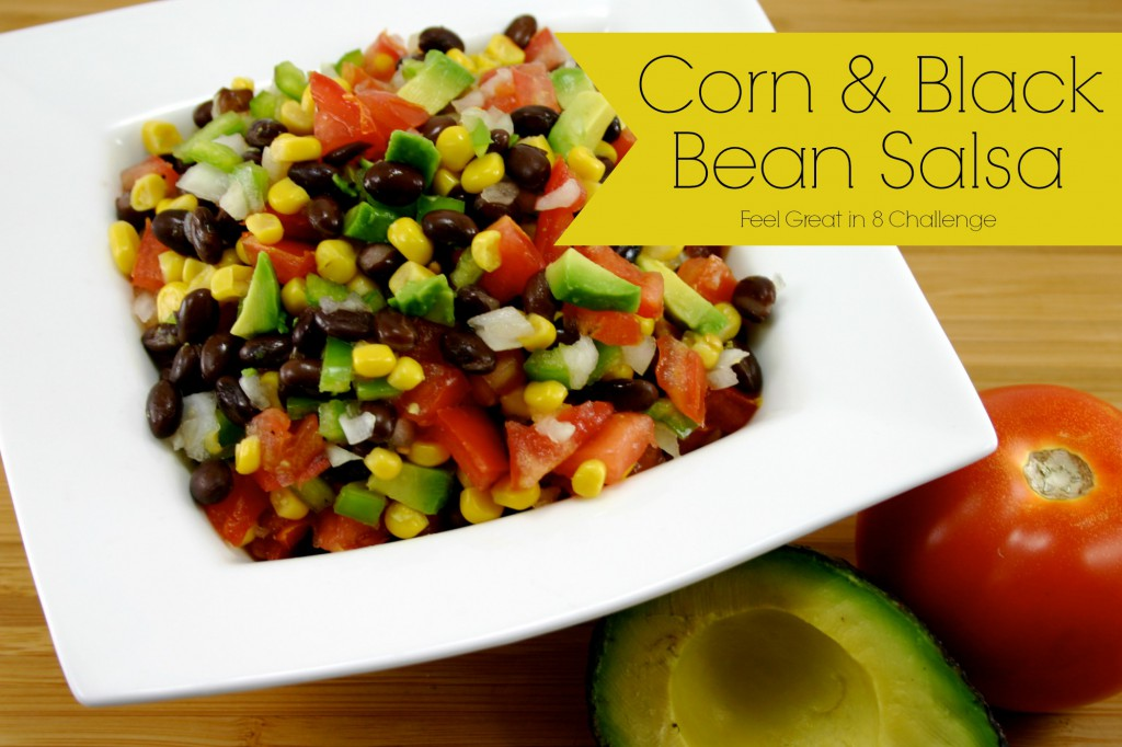 This is such a yummy and fresh salsa, perfect to take to a party, or even for dinner when you don't want to heat up the oven. #salsa #healthy #recipe