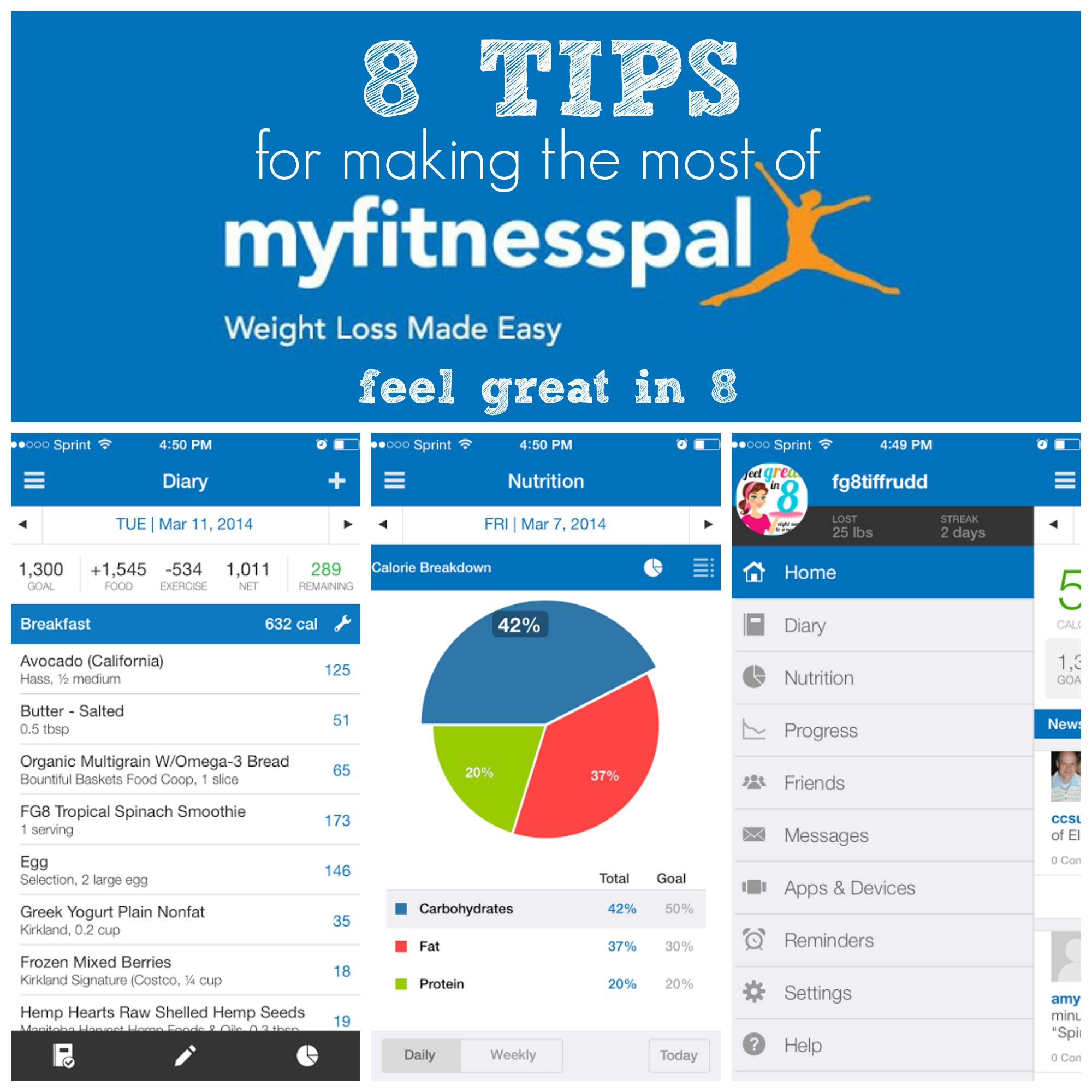 8 tips for making the most of myfitnesspal feel great in 8 blog. Black Bedroom Furniture Sets. Home Design Ideas