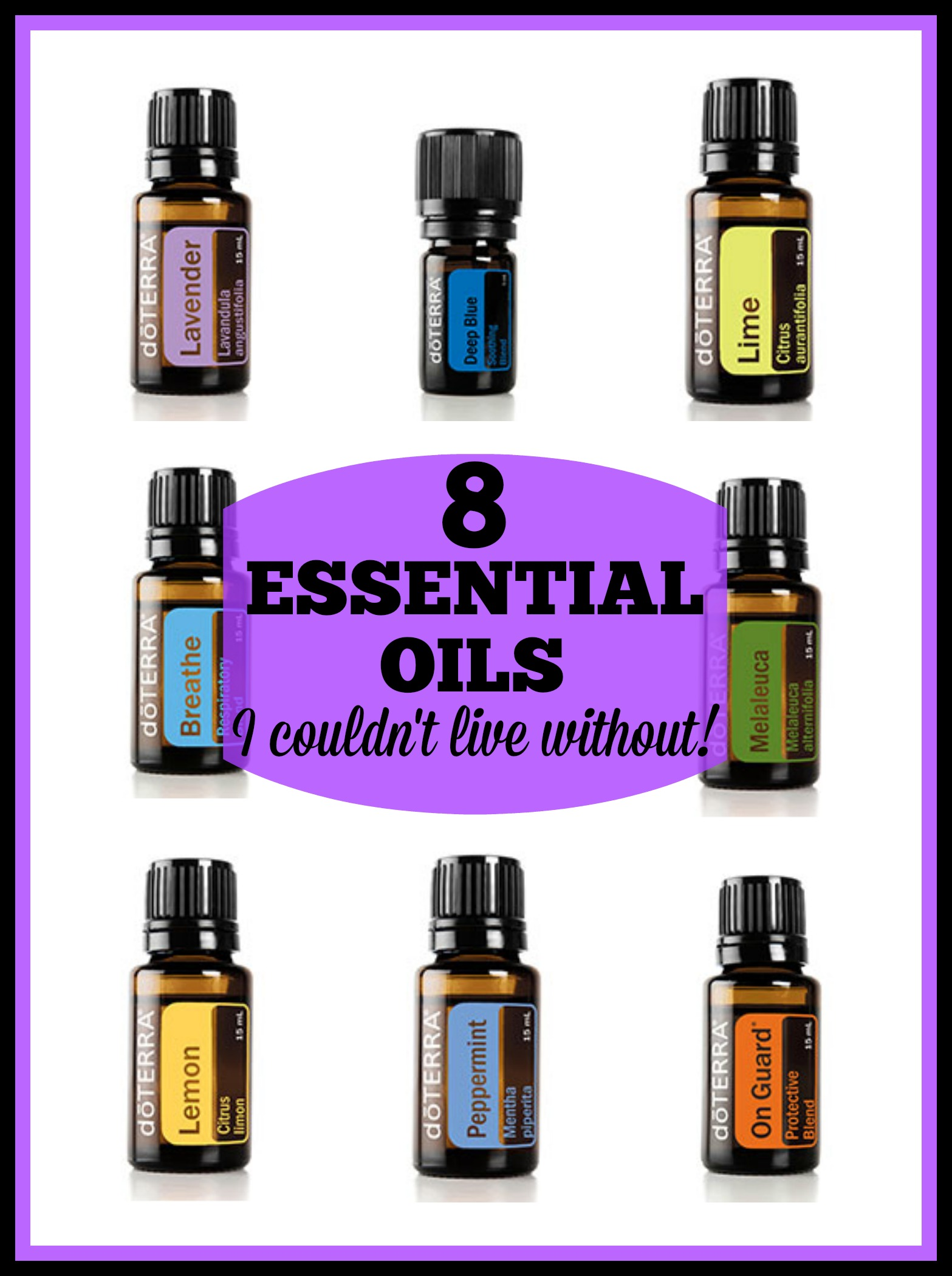 8 Essential Oils I Couldn't Live Without {Giveaway!}
