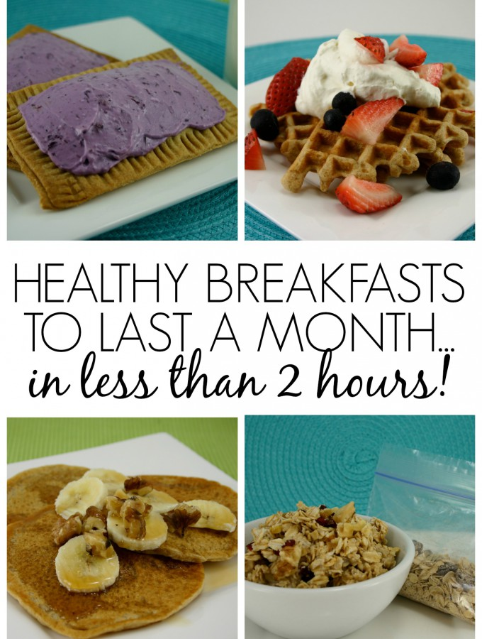 Healthy Breakfasts to Last a Month…in Less than 2 Hours!!