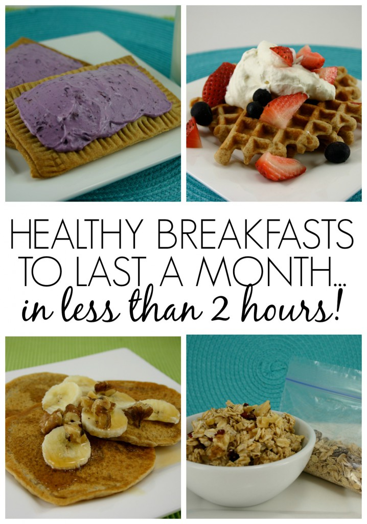 Healthy Breakfasts To Last a Month...in Less than 2 Hours!