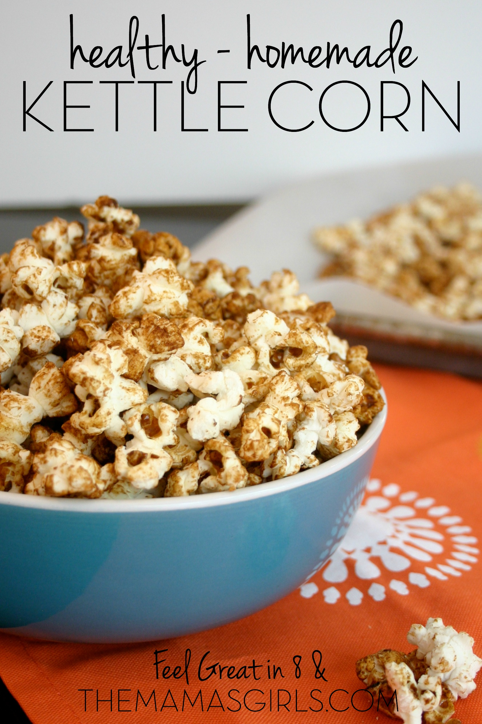 You won't believe how quick and easy it is to make this homemade kettle corn popcorn – no special equipment required! And, by substituting healthy coconut oil and unrefined coconut sugar you can have a healthy, whole grain, sweet and salty snack to enjoy guilt-free. #healthy #dessert #popcorn