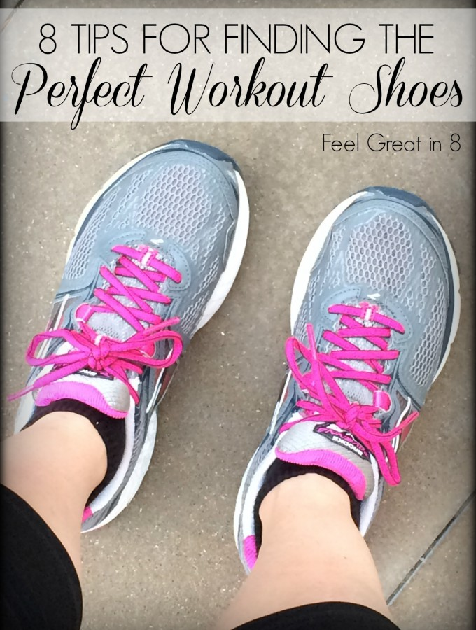 8 Tips for Finding The Perfect Workout Shoes - great tips for finding the best shoes for running or any exercise! Feel Great in 8 #fitness #running #shoes