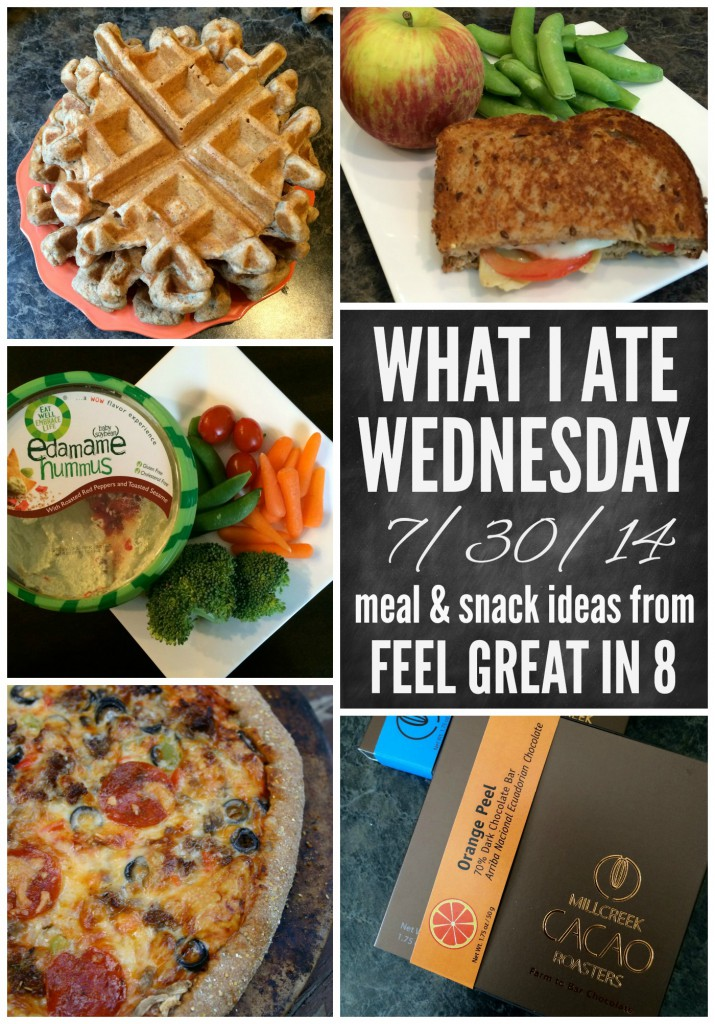 What I Ate Wednesday 7/30/14 - Healthy meal and snack ideas from Feel Great in 8! Includes recipes and nutrition information!