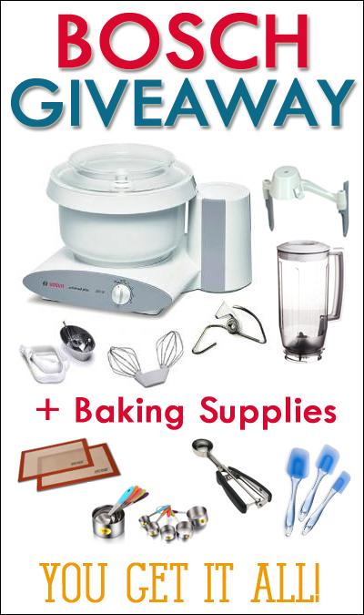 Bosch {+Baking Supplies} Giveaway!!