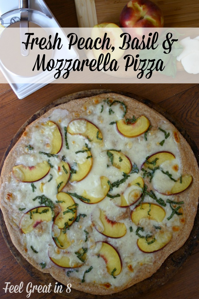 Peach, Basil & Mozzarella Pizza