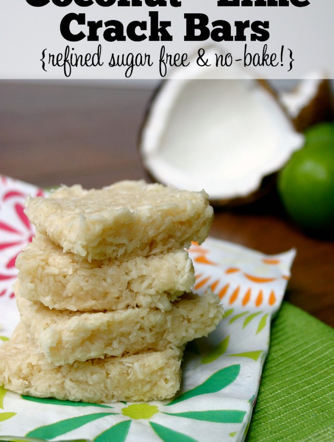 The flavor combination of coconut and lime in these easy Coconut-Lime Crack Bars is to die for! Plus, they are refined sugar free and no-bake! Feel Great in 8 | Healthy Real Food Recipes