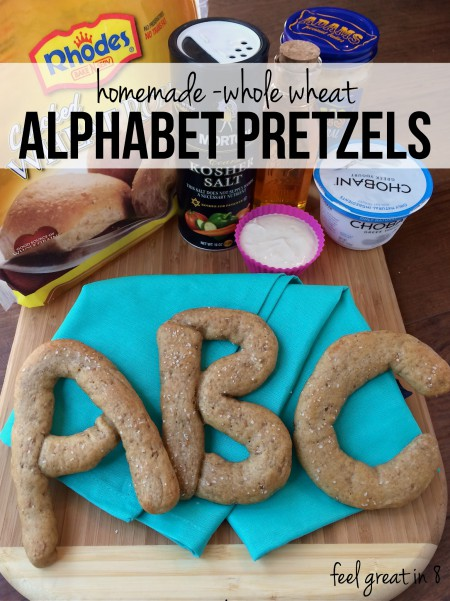 Whole Wheat Alphabet Pretzels