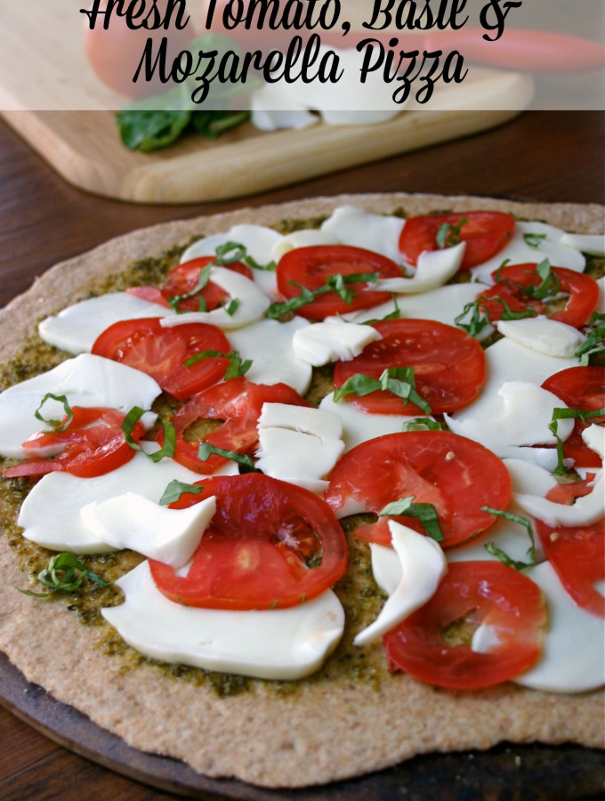 It doesn't get much better than pesto, tomatoes and fresh mozzarella cheese on a nutty whole wheat pizza crust! Feel Great in 8 - Healthy Real Food Recipes