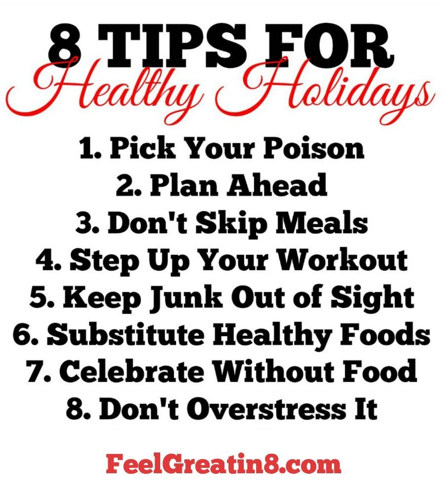 8 Tips for Healthy Holidays | Feel Great in 8