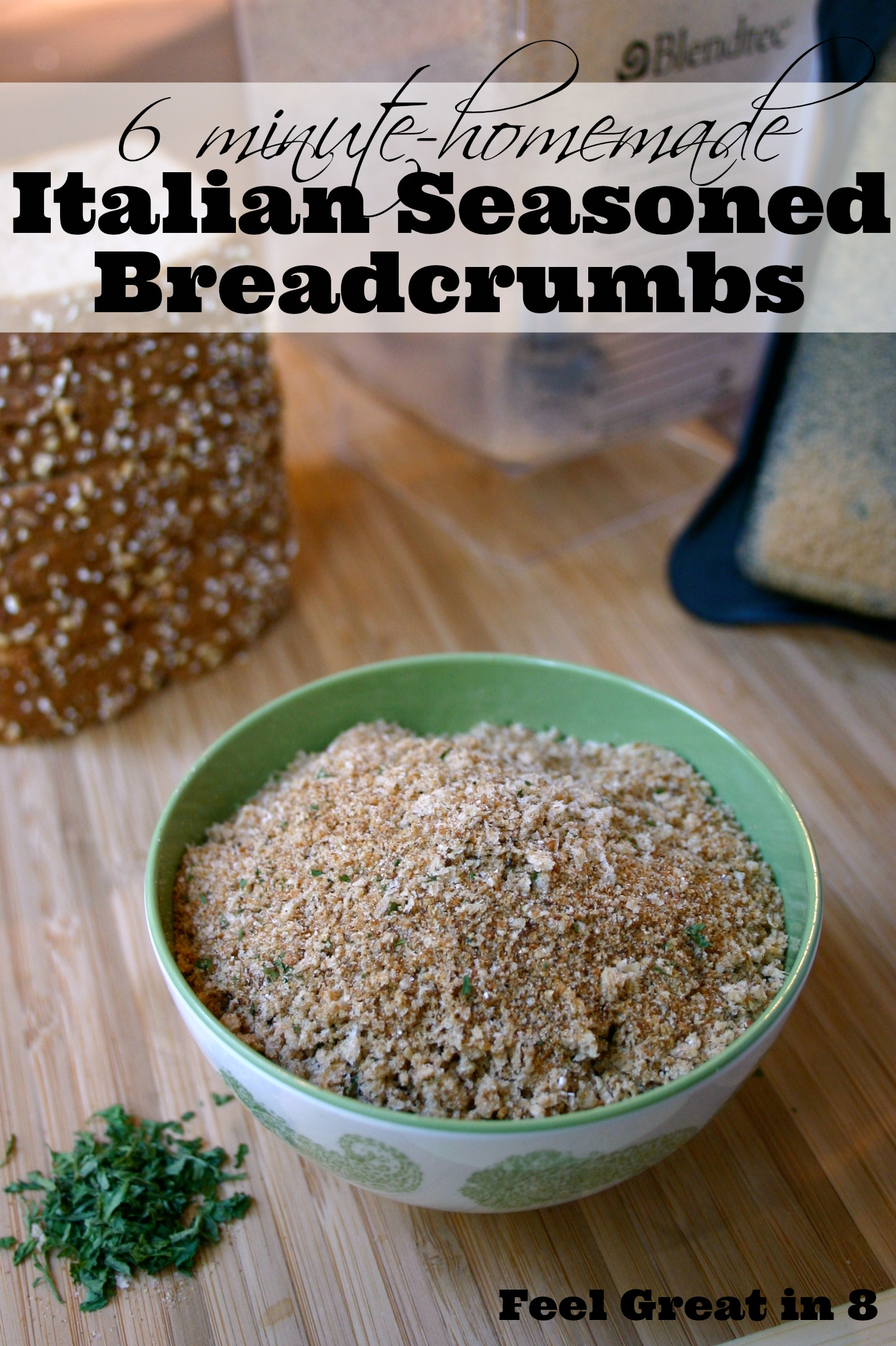 You won't believe how simple it is to make homemade italian seasoned breadcrumbs! Quick, easy, and healthy! #healthy #easy #breadcrumbs