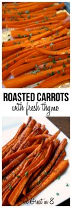 These easy Roasted Carrots With Fresh Thyme are delicious, flavorful and naturally sweet! You'll never cook carrots any other way again! | Feel Great in 8 #healthy #sidedish #easy