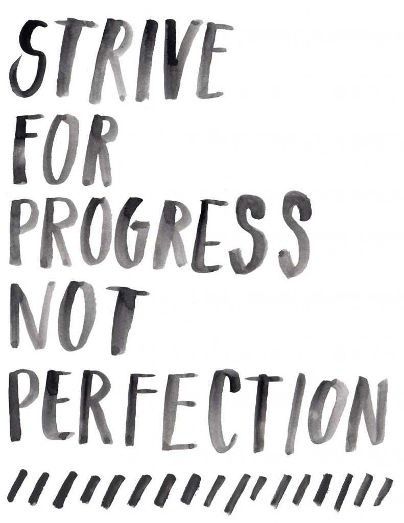Strive for Progress Not Perfection| Feel Great in 8