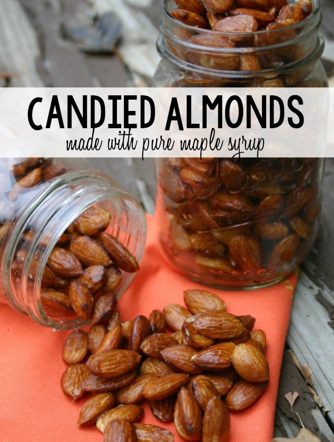 These Candied Almonds made with pure maple syrup and heart healthy coconut oil are the perfect sweet and crunchy snack that won't derail your healthy goals! | Feel Great in 8