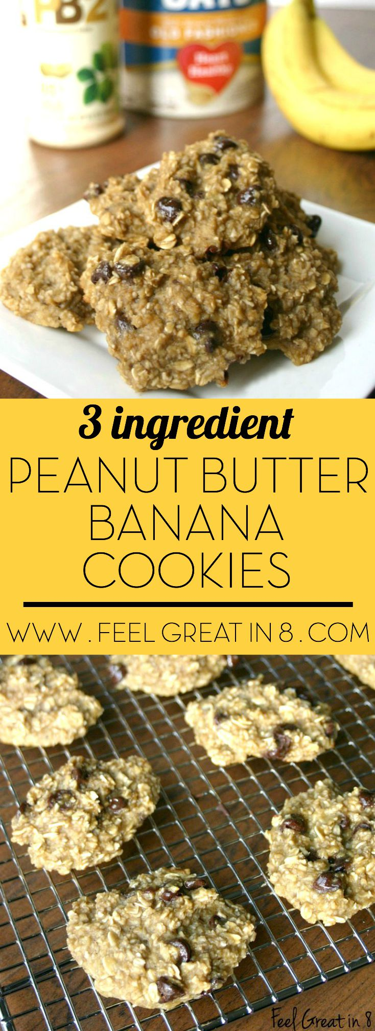 3 Ingredient Peanut Butter Banana Cookies Feel Great In 8 Blog