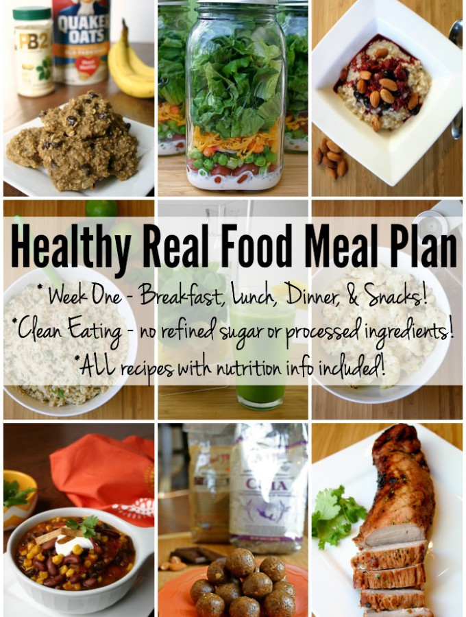 Healthy Real Food Meal Plan – Week 1