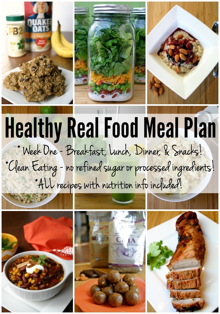 Healthy Real Food Meal Plan - Week One | Feel Great in 8