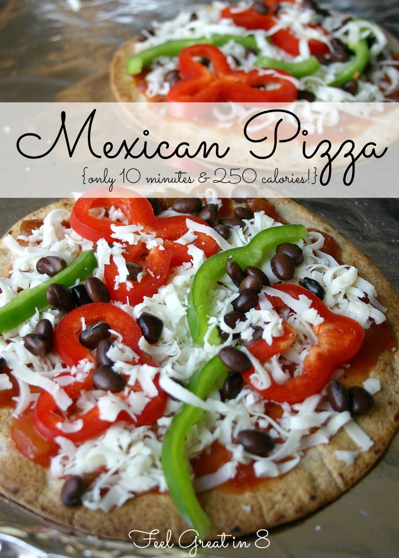 Easy mexican pizza feel great in 8 blog this healthy vegetarian mexican pizza is quick easy to throw together and has only 250 forumfinder Gallery