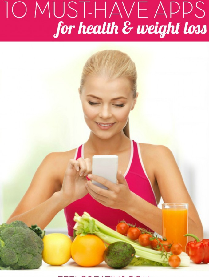 10 Must-have Apps for Health & Weight Loss - Use your smart phone to help you reach your health and weight loss goals with these free or inexpensive apps! | Feel Great in 8
