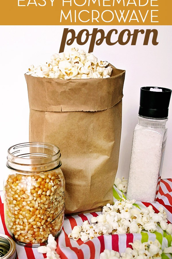 This Easy Homemade Microwave Popcorn makes the perfect healthy snack that is so much better for you than the store-bought kind! | Feel Great in 8 - Healthy Real Food Recipes