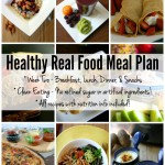 Healthy Real Food Meal Plan - One week of breakfast, lunch, dinner, & snacks! All clean eating, healthy real food recipes and nutrition info included! No refined sugar or artificial ingredients! | Feel Great in 8 - Healthy Real Food Recipes