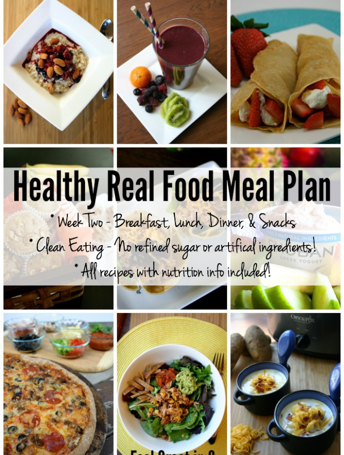 Healthy Real Food Meal Plan – Week Two