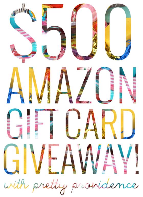 $500 Amazon Gift Card Giveaway!!