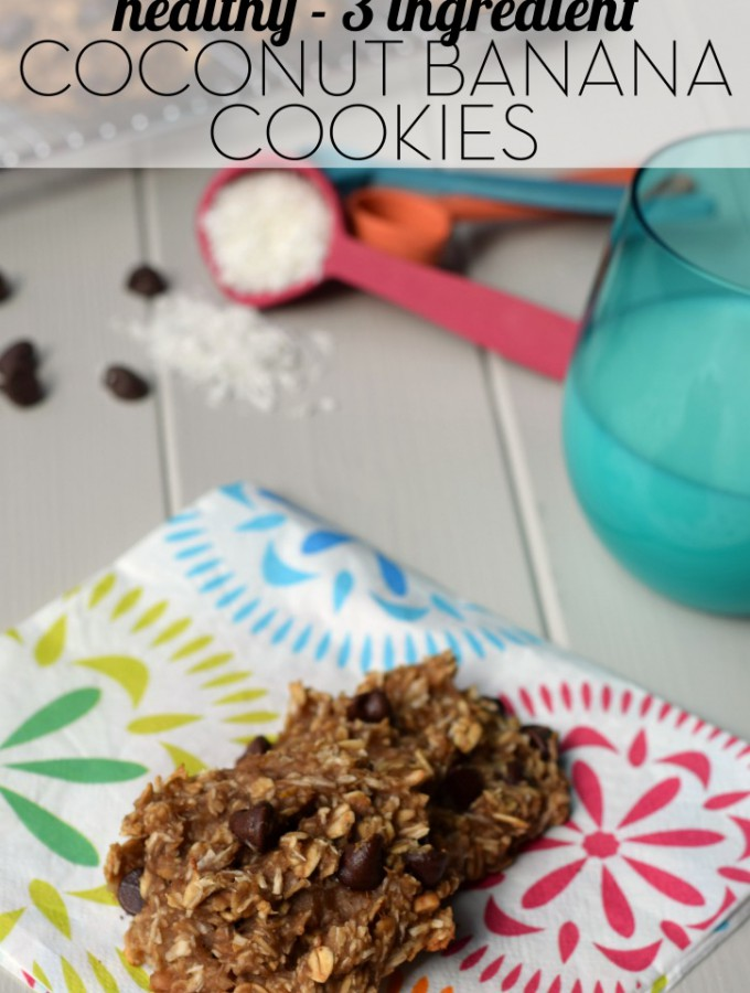 3 Ingredient Coconut Banana Cookies