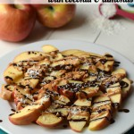 You won't believe these quick & easy Dark Chocolate Peanut Butter Apples are a healthy snack or dessert! | Feel Great in 8 - Healthy Real Food Recipes