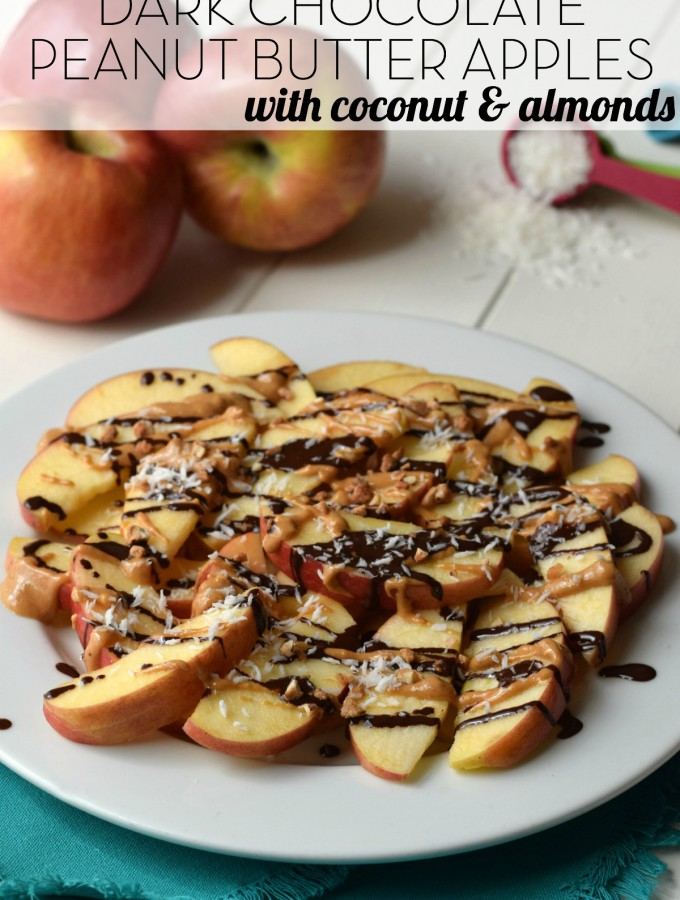 Dark Chocolate Peanut Butter Apples
