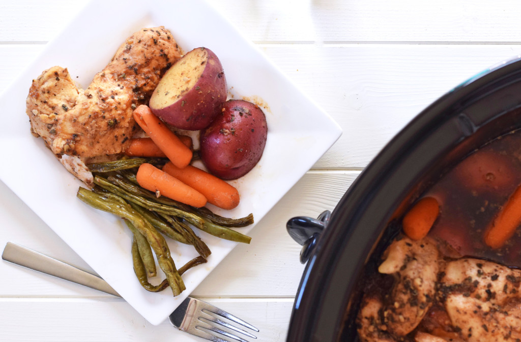 Slow Cooker Honey Garlic Chicken and Vegetables - It doesn't get better than an easy, healthy Crock Pot dinner the whole family will love!