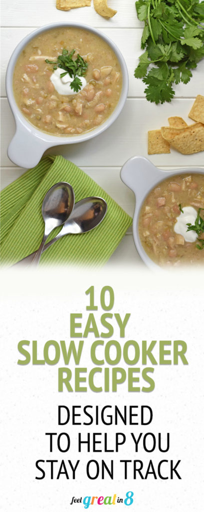 10 Healthy Slow Cooker Recipes - These healthy slow cooker (i.e. CrockPot) dinner recipes are easy, delicious, family-friendly, and designed to help you stay on track with your healthy goals!