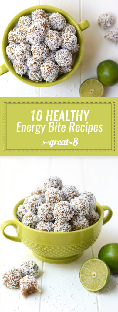 10 Healthy Energy Bites Recipes - These energy bites made with only real food ingredients and packed with protein, fiber and healthy fats make the perfect mid-morning or afternoon snack!